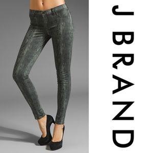 J Brand Print Super Skinny In Woodgrain
